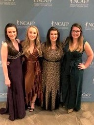 2019-2020 Board of Directors & Foundation Board of Trustees, left to right: Morgan Carnes, Hannah Smith, Katelyn Turlington & Caitlin Porter